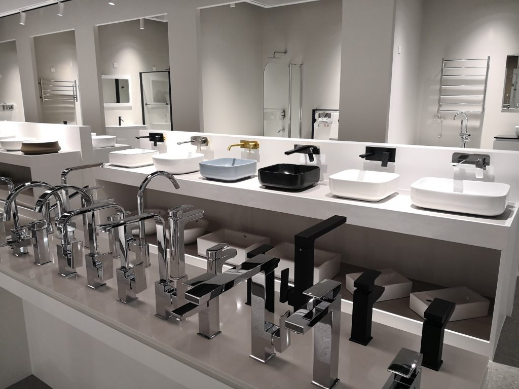 Een sanitair showroom in China